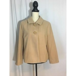 Chico's Arabian Camel Plush Swing Jacket Size 1